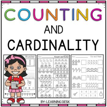 Counting and Cardinality Kindergarten-Counting Worksheets by Learning Desk