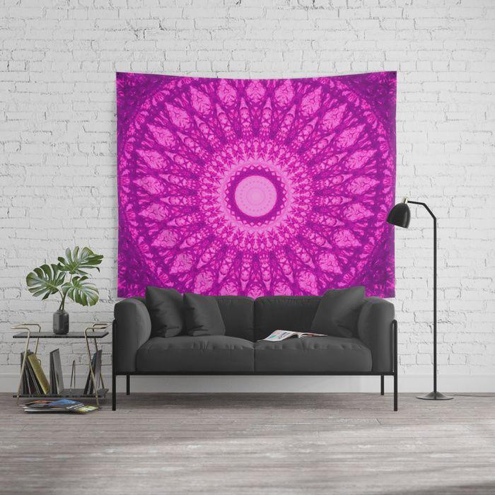 MANDALA NO. 34 #society6 Wall Tapestry . #mandala #universe #space #galaxy #stars #2018 #magenta #moroccan #boho #bohemian #violet #ultraviolet #society6 #sboar #bohochic #interior #design #trends