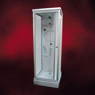 ガラスシャワーブースFRP素材(節水タイプシャワーヘッド・ガラスシャワールーム・シャワーユニット)INK-8039-3s