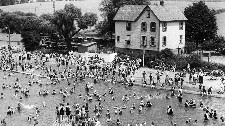 A View Of The Old Dorney Park Swimming Pool Looking