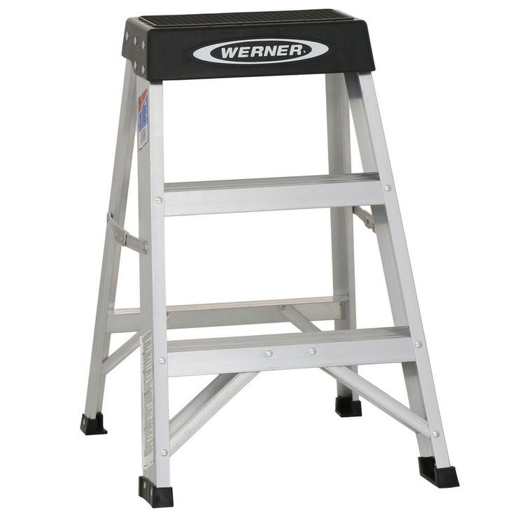 Werner 2 ft. Aluminum Step Ladder with 300 lb. Load Capacity Type IA Duty Rating-150B - The Home Depot $39.83