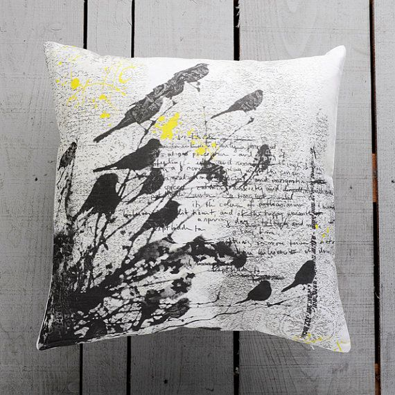 Black Birds Home Decorative Pillow Cover Cashion by GargaProject, $34.00