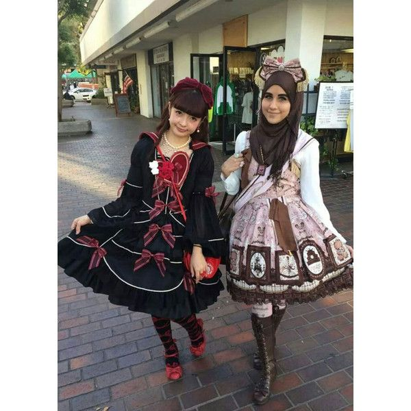 Muslim Lolita Fashion Is A New Trend Inspired By Japan ❤ liked on Polyvore featuring dresses