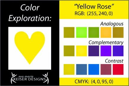 Eva Maria Keiser Designs: Explore Color:  Yellow Rose
