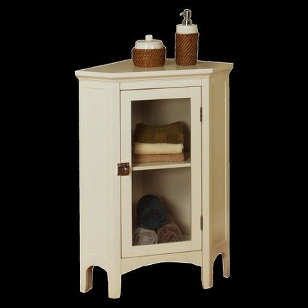 Elegant Home Fashions Madison Avenue Corner Floor Cabinet - White : Target