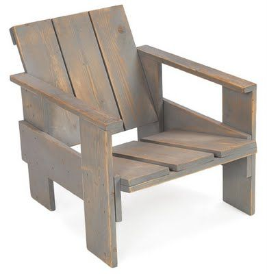 Chair made out of wooden crates. It looks great!
