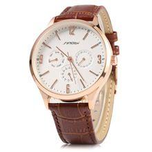 Sinobi 9546 Casual Fashion Style Ultra Slim Men Watch Japan Quartz  And Leather Strap Date Function Wristwatch Roloje masculino(China (Mainland))