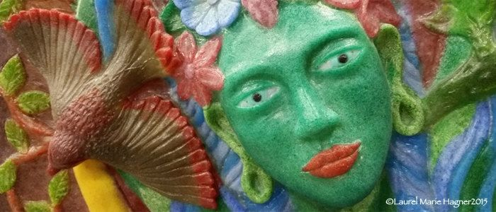 Green Tara Gazing - Laurel Marie Hagner's Sacred Art Greeting Cards by Glassometry on Etsy
