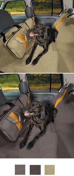 Kurgo Wander Hammock Dog Car Seat Cover and Dog Car Barrier Combo