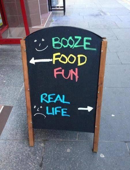 Clever restaurant sign.