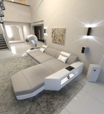 Sofa Dreams Berlin Stoffsofa Im Materialmix PRATO L Form Jetzt Bestellen Unter