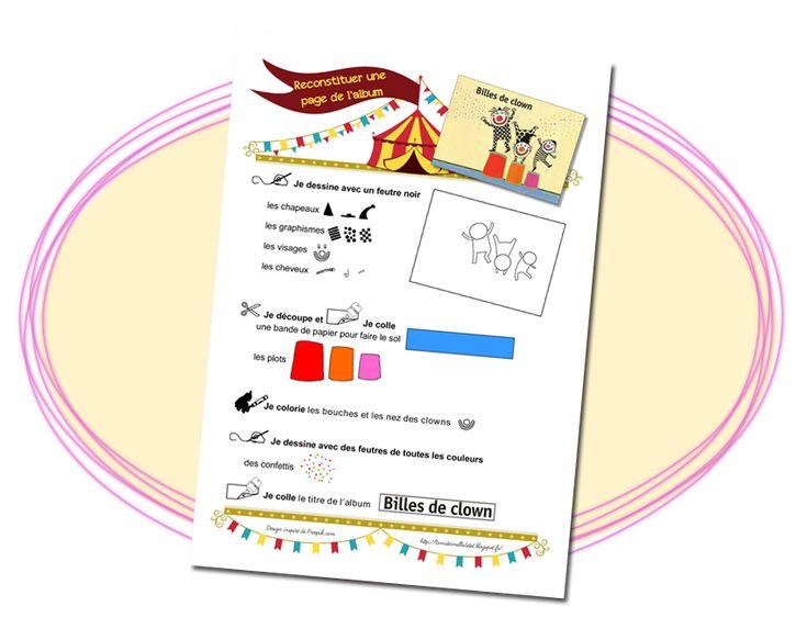 La maternelle de ToT: BILLES DE CLOWN - RECONSTITUER UNE PAGE DE L'ALBUM