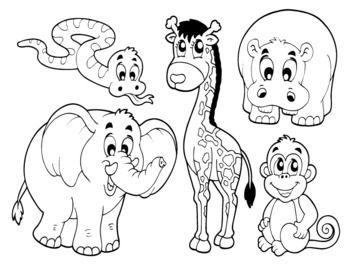 zoo animal crafts cut outs zoo animals cutouts vbs kid stuff pinterest zoo animal crafts. Black Bedroom Furniture Sets. Home Design Ideas