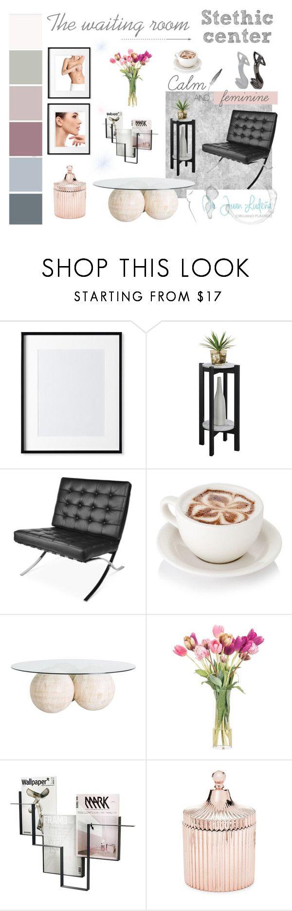 Moodboard para diseño de sala de espera en consultorio de tratamientos estéticos.