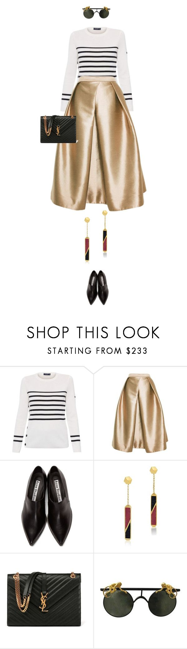 """""""eva1408"""" by evava-c ❤ liked on Polyvore featuring Saint James, TIBI, Acne Studios, Edge of Ember and Yves Saint Laurent"""
