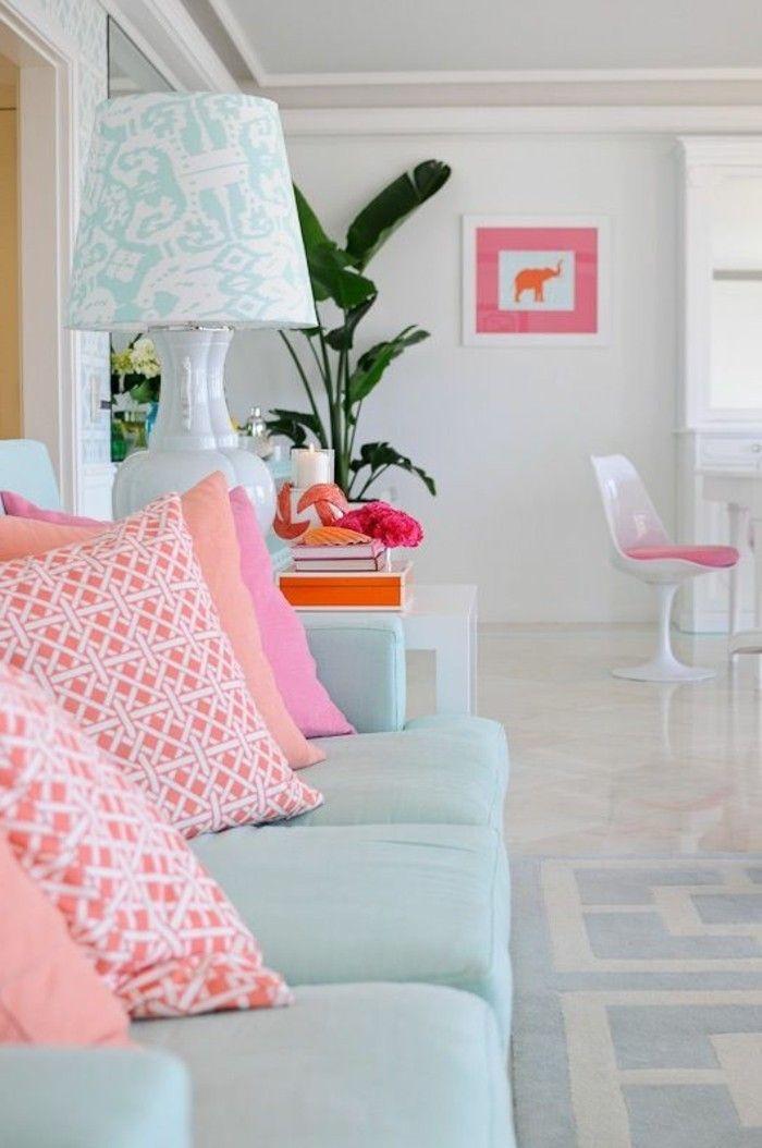 Farbgestaltung Wohnzimmer - Interieurgestaltung - Archzinenet - wohnzimmer rosa beige