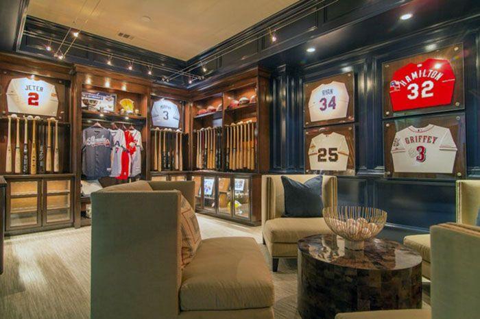 Sports team memorabilia room