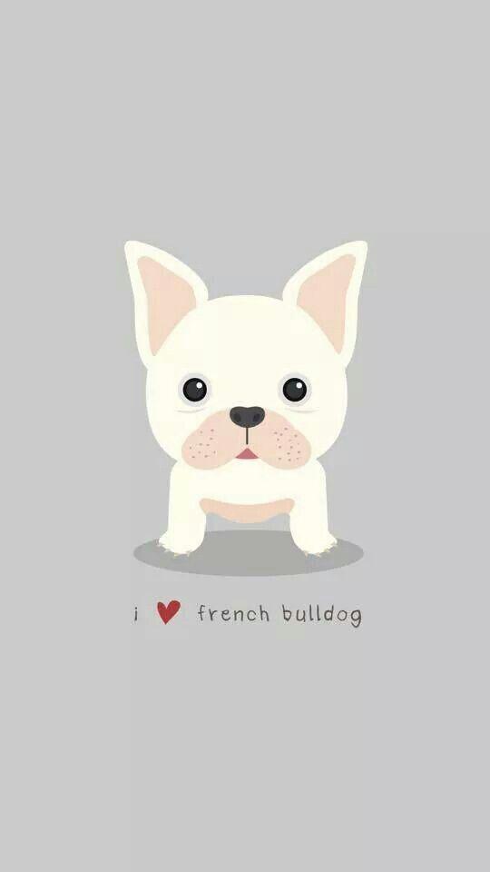 Grey cream pink French bulldog iphone phone wallpaper background lock screen