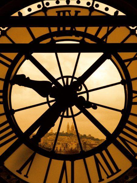 le sacr coeur et l'horloge