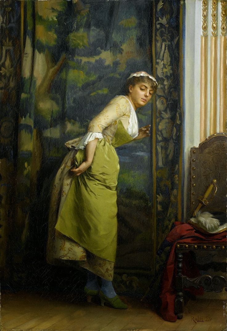 .. Theodoros Rallis ~ The Eavesdropper ~ Orientalist Academic painter