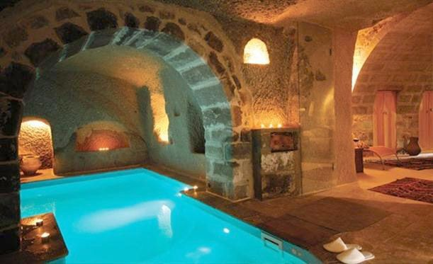 Basement Indoor Pool 2  grotto  Boarding House