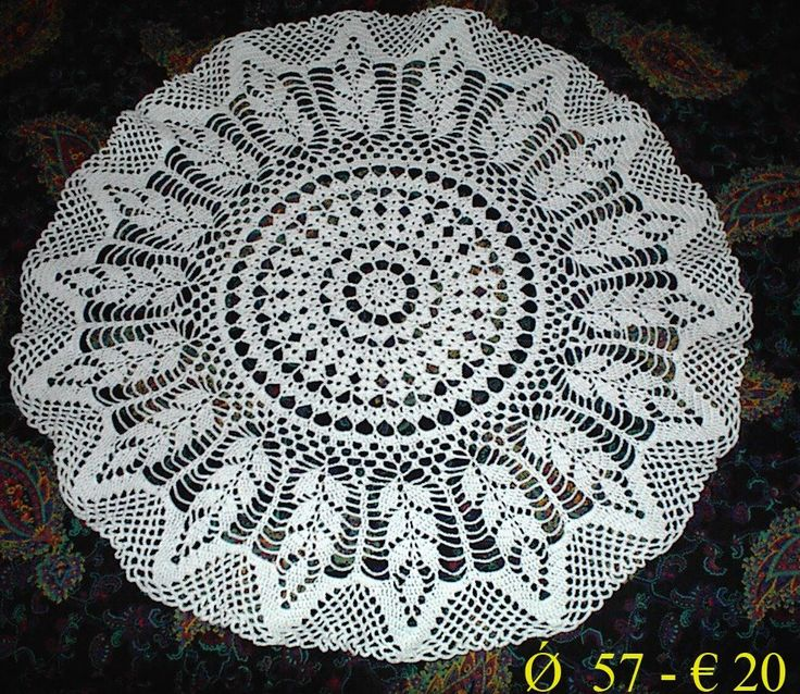 round doily crochet