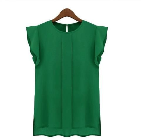 Womens Chiffon Summer Elegant Blouse - All In One Place With Us - 5