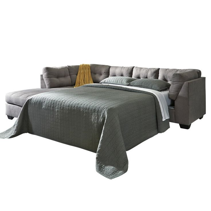 Ashley Maier Gray Chaise Full Sleeper Furniture And Mattress Outlet