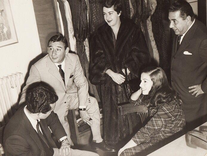 Vic Damone, Renato Rascel, Annamaria Pierangeli and Guglielmo Battistoni