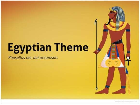 Egypt Powerpoint Template For Ancient Presentations About