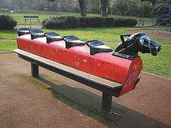 Played on this in the park.
