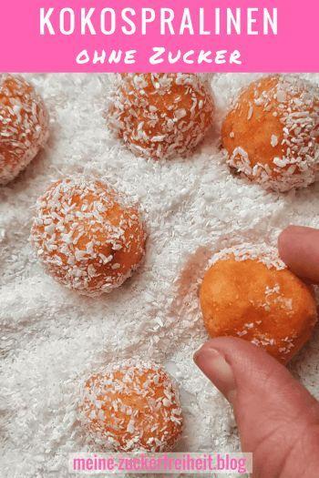 Energiekugeln ohne Datteln: Süßkartoffel-Kokospralinen  Mit diesem einfachen Rezept kannst Du zuckerfreie Pralinen selber machen!  .  #zuckerfrei #ohnezucker #energiekugeln #praline #rezept