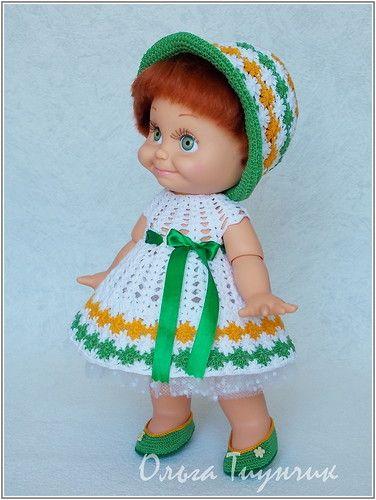 Вязаная одежда для кукол Galoob Baby Face / Куклы Galoob Baby Face dolls / Бэйбики. Куклы фото. Одежда для кукол