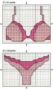 kit de lingerie au point de croix - Pesquisa do Google