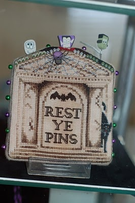 "In Stitches Shop Blog: ""Rest Ye Pins"" Halloween cross stitch"