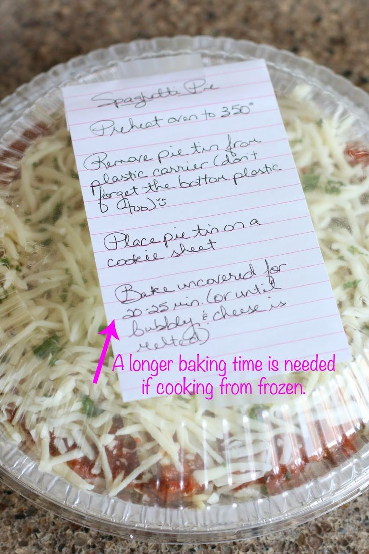 Friendship Spaghetti Pie is baked spaghetti that is not only yummy but it makes two meals. One for now and freeze one for later (or give to a friend!)