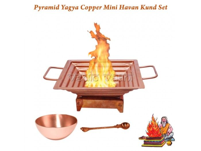 Pyramid Yagya Copper Mini Havan Kund Set buy Online from India