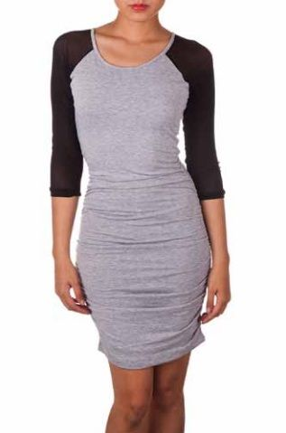 Body-Con Raglan Sleeve Dress