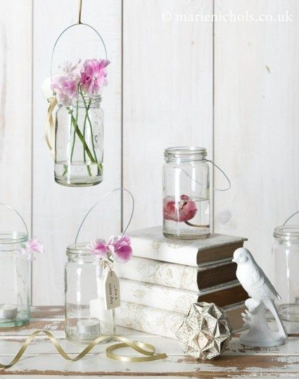 .: Ideas, Books Club, Paper Flowers, Jar Lanterns, Orange Flowers, Crystal, Jars Lanterns, Mason Jars Crafts, Flowers In Jars