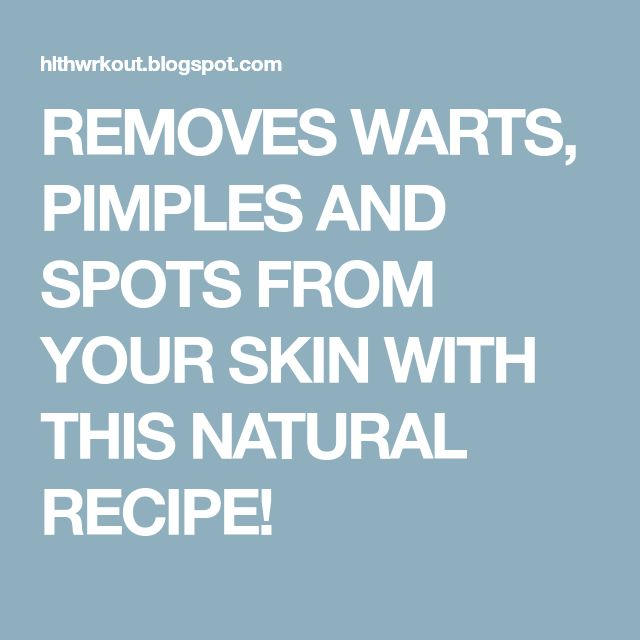 REMOVES WARTS, PIMPLES AND SPOTS FROM YOUR SKIN WITH THIS NATURAL RECIPE! #WartsOnNose