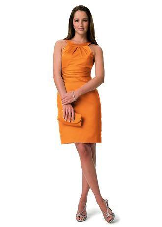 Tangerine bridesmaid dress #tangerineandpink #wedding