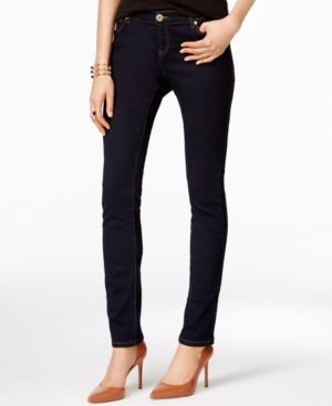 Inc International Concepts Petite Tikglo Wash Skinny Jeans, Only at Macy's - Blue