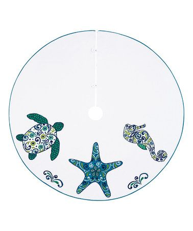 54'' Ocean Creatures Tree Skirt #zulily #zulilyfinds