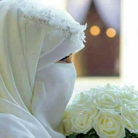 bride, hijab, and niqab image