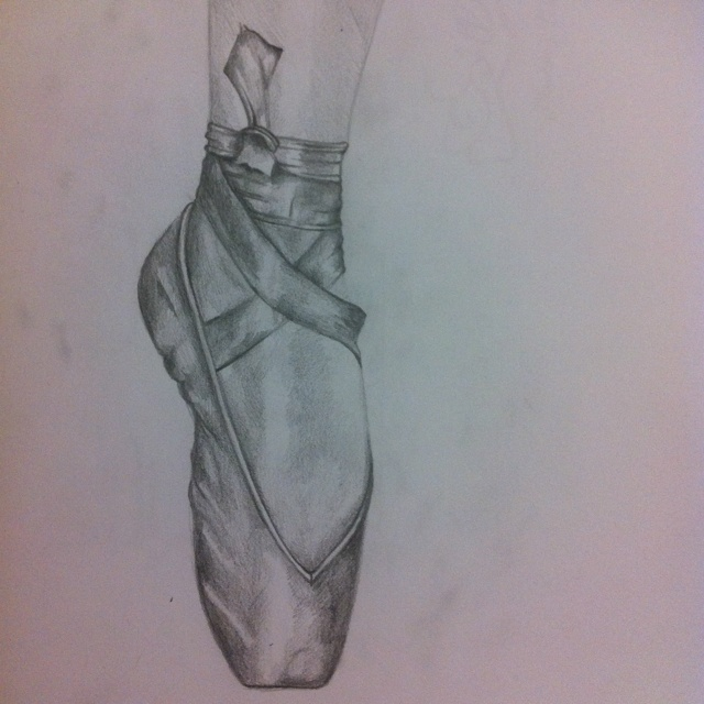 ballet shoes drawing easy - photo #24
