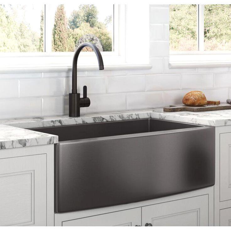 Ruvati Terraza 36 L X 22 W Farmhouse Kitchen Sink Reviews Wayfair In 2020 Farmhouse Sink Kitchen Single Bowl Kitchen Sink Stainless Steel Farmhouse Sink