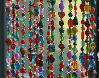 aangepaste volgorde voor Mary!! Beaded gordijn-venster gordijn-kraaltjes deur gordijn-opknoping deur parels-kralen muur opknoping-Boheemse muur kunst-kunst aan de muur