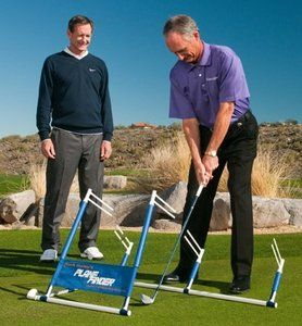 The Plane Finder, designed by world-renowned golf instructor Hank Haney, is one of the most simple yet effective golf training aids on the market!  It allows the golfer to actually FEEL where their swing plane is when before it was only possible to track this using a video or a mirror. $99.95 - Golf Training Aids: http://www.PlayBetterStore.com