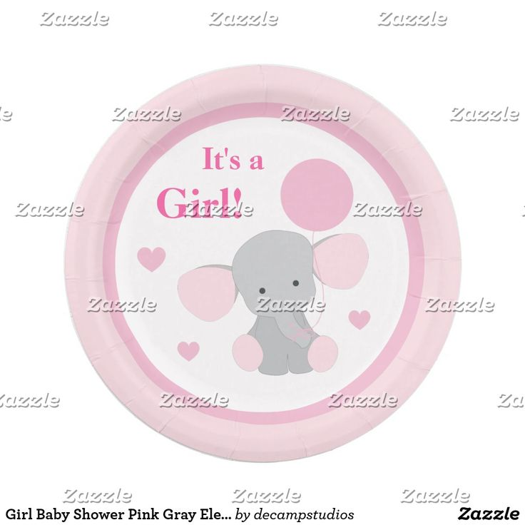 Gianna S Pink And Gray Elephant Nursery Reveal: Girl Baby Shower Pink Gray Elephant Sprinkle Party Paper