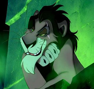 Disney Challenge Day 13 (favorite villain): Scar from The Lion King. Villain with class :)